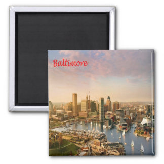 US United States of America - Maryland - Baltimore Square Magnet