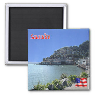 US United States of America - Sausalito - Panorama Square Magnet