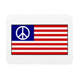 US United States Peace Sign Flag Rectangular Magnets