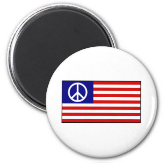 US United States Peace Sign Flag Refrigerator Magnet