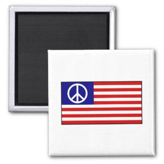 US United States Peace Sign Flag Magnet