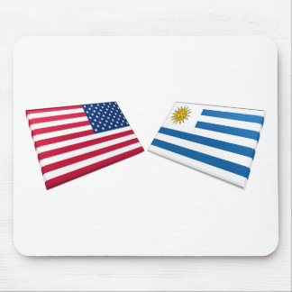 US Uruguay Flags Mouse Pad