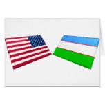 US & Uzbekistan Flags