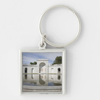 US, VA, Arlington. Women in Military Service for Silver-Colored Square Key Ring