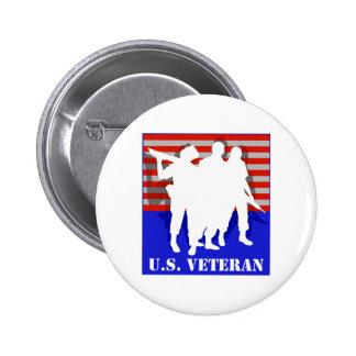 US Veteran 6 Cm Round Badge