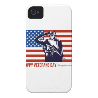 US Veterans Day Remembrance Greeting Card Case-Mate iPhone 4 Case