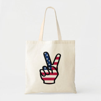 US Victory Sign Budget Tote Bag