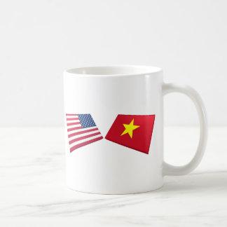 US & Vietnam Flag (North Vietnam) Coffee Mug