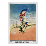 US Vintage Poster Forward America! Poster Print