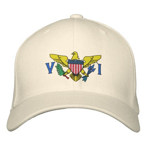 US VIRGIN ISLANDS EMBROIDERED HAT