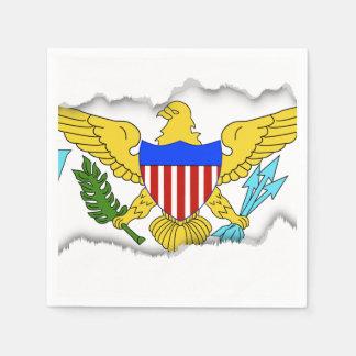 US Virgin Islands flag Disposable Serviette