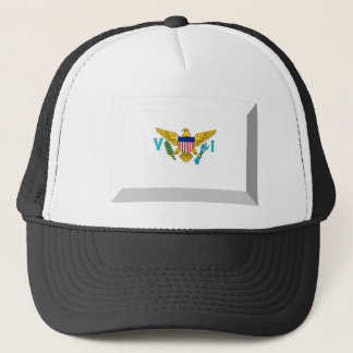 US VIrgin Islands Flag Jewel Trucker Hat
