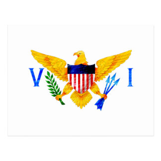 US VIRGIN ISLANDS FLAG POSTCARD