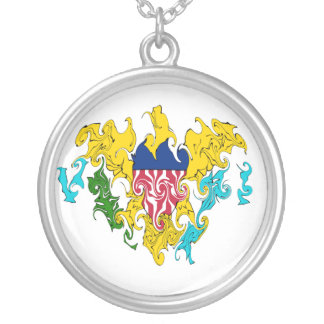 US Virgin Islands Gnarly Flag Personalized Necklace