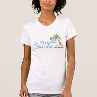 US Virgin Islands Sleeveless V-neck T-Shirt