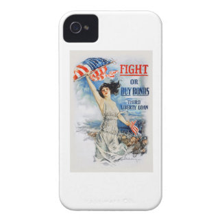 US War Bonds Fight Buy Third Liberty Loan WWI iPhone 4 Case-Mate Case