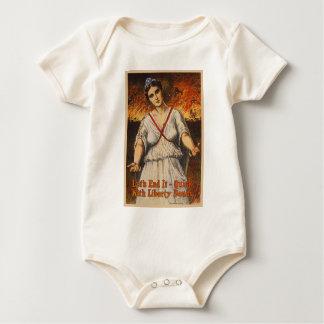 US War Bonds Let's End It Quick WWI Propaganda Baby Bodysuit