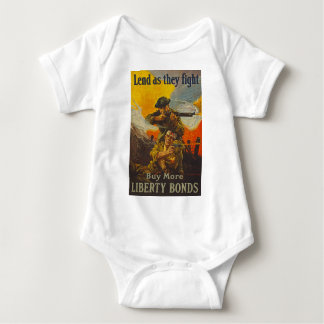 US War Bonds Liberty Lend Fight WWI Propaganda Baby Bodysuit