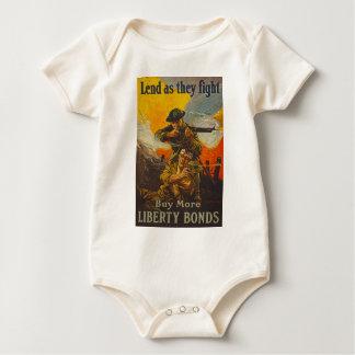US War Bonds Liberty Lend Fight WWI Propaganda Baby Creeper