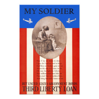 US War Bonds Liberty Loan Prayer WWI Propaganda Photo Print