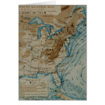 US Weather Map Greeting Card