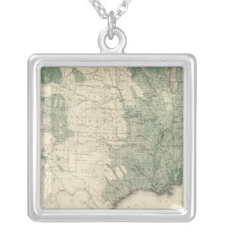 US Woodlands Silver Plated Necklace
