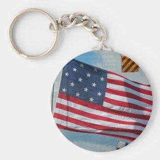 USA 15 Star Flag Keychain