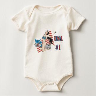 USA #1 Bombshell Baby Creeper