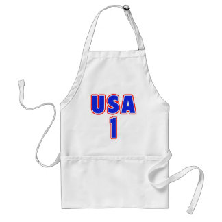 USA 1 in Red White and Blue Adult Apron