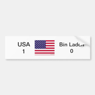 USA 1 vs Bin Laden 0 Bumper Sticker
