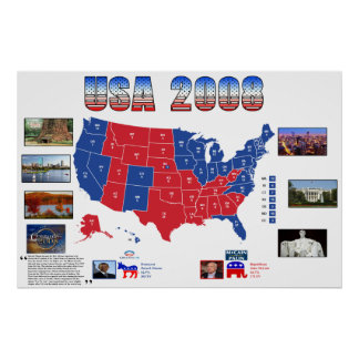 USA 2008 Presidential Election Poster