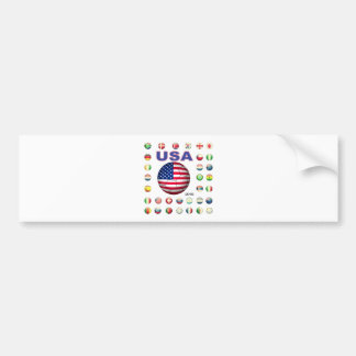 USA 2010 T-Shirt D7 Bumper Stickers