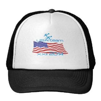 USA 2014 Winter Sports Speed Skating Trucker Hats