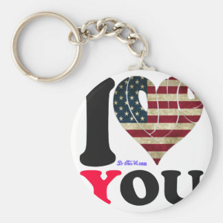USA 2 FLAG I LOVE YOU CUSTOMIZABLE PRODUCTS KEY CHAINS