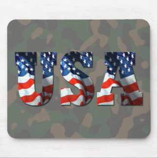 USA 3-D Camo-Military Support by SKO Mouse Mat