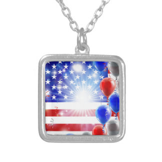 USA 4th july balloons background Custom Jewelry