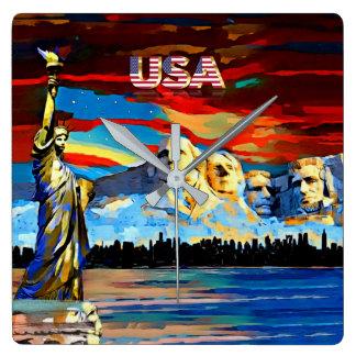 USA Acrylic Wall Clock