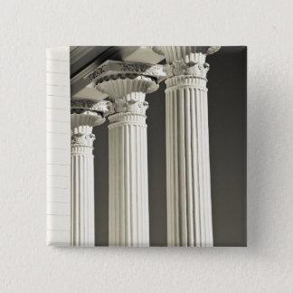 USA, Alabama, Montgomery. Alabama State Capitol, 15 Cm Square Badge