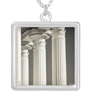 USA, Alabama, Montgomery. Alabama State Capitol, Silver Plated Necklace