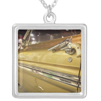 USA, Alabama, Tuscumbia. Alabama Music Hall of 3 Silver Plated Necklace