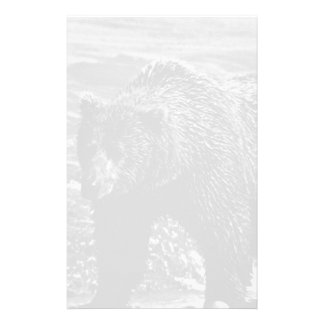 USA Alaska brown bear 1970 Personalized Stationery