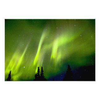 USA, Alaska, Chena Hot Springs. Aurora 3 Photo Print