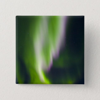 USA, Alaska, Chena Hot Springs. Aurora Borealis 15 Cm Square Badge