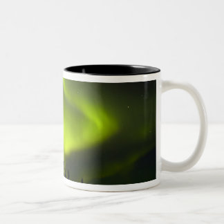 USA, Alaska, Chena Hot Springs. Aurora Borealis 2 Two-Tone Coffee Mug