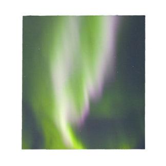USA, Alaska, Chena Hot Springs. Aurora Borealis Notepad