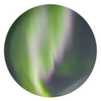 USA, Alaska, Chena Hot Springs. Aurora Borealis Party Plates