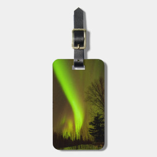 USA, Alaska, Chena Hot Springs. View Of Aurora Luggage Tag