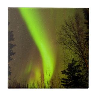USA, Alaska, Chena Hot Springs. View Of Aurora Tile