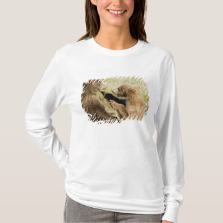 USA. Alaska. Coastal Brown Bear cubs at Silver T-Shirt