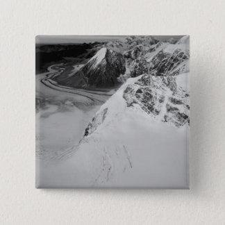 USA, Alaska, Denali National Park, Aerial view 15 Cm Square Badge